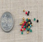 50 VINTAGE ASST COLOR 3mm GLASS RHINESTONES