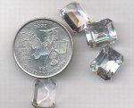 1 VINTAGE AUSTRIAN CRYSTAL 12X10mm OCTAGON SPINEL GEM