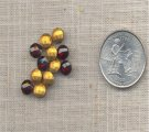 50 VINTAGE GARNET 30ss GLASS PILLOW BACK RHINESTONES