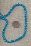 12 VINTAGE GENUINE BLUE QUARTZ FACETED 6mm ROUND BEADS