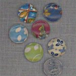 6 VINTAGE ASST TEXTURED WALLPAPER 24mm CABOCHONS