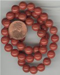 24 VINTAGE GENUINE RED JASPER 10mm ROUND BEADS