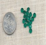 36 VINTAGE GREEN TOURMALINE 5mm BICONE SPACER BEADS