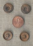 24 VINTAGE ANTIQUE BRASS 15mm. ROUND BUTTONS