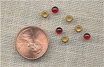 100 VINTAGE GLASS RUBY 4mm ROUND CABOCHONS