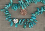 12 VINTAGE GENUINE TURQUOISE BAROQUE NUGGET CHIP BEADS