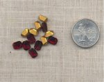 24 VINTAGE AUSTRIAN RUBY 8X6mm OCTAGON GEMS