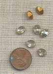 50 VINTAGE GLASS CRYSTAL 8x6mm. OVAL JEWELS
