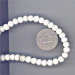70 VINTAGE IVORY GENUINE CORAL 6mm. ROUND BEADS