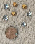 24 VINTAGE GLASS CRYSTAL 8mm RHINESTONE GEMS