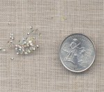 100 VINTAGE GLASS CRYSTAL AB 2mm RHINESTONES