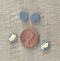 22 VINTAGE WEDGEWOOD BLUE LADY HEAD 10x8mm OVAL CAMEOS