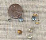 50 VINTAGE GLASS CRYSTAL 6-7mm ASSORTED GEM JEWELS