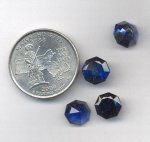 1 VINTAGE SYNTHETIC SAPPHIRE 9mm OCTAGON GEMS