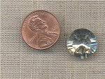 1 ANTIQUE CRYSTAL GLASS 15MM ROUND RHINESTONE GEM