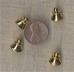 6 VINTAGE ANTIQUE GOLD 11x10mm. BELL CLUTCH FINDINGS