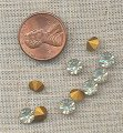 50 VINTAGE GLASS CRYSTAL 6mm RHINESTONES