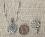 1 VINTAGE GENUINE STERLING SILVER 21mm CROSS PENDANT