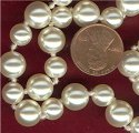 24 AUSTRIAN CRYSTAL CREAM ROSE ROUND PEARLS