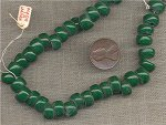 50 VINTAGE GLASS JAPANESE EMERALD TIRE BEADS