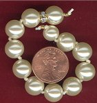 "1 AUSTRIAN PEARL RHINESTONE 5"" SECTION"