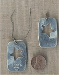 "1 ""CHICO"" STAMPED STAR DOG TAG 1997 PENDANT"