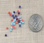 300 VINTAGE ASSORTED 3mm. GLASS ROUND CABOCHONS