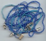 1/4LB GLASS SAPPHIRES SEED BEAD CHARMS BRACELETS