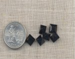 11 VINTAGE AUSTRIAN JET 8mm SQUARE JEWELS