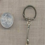 6 VINTAGE BRASS ROUND CHAIN JUMP RING READY KEYRINGS