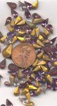 50 VINTAGE ANTIQUE GLASS ASSORTED TEAR JEWELS