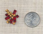 24 VINTAGE AUSTRIAN SIAM RUBY 4mm SQUARE GEMS
