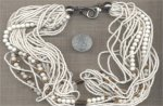 1 VINTAGE CHALKWHITE GLASS MEGA STRAND BEAD NECKLACE