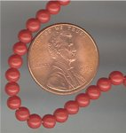 200 VINTAGE CORAL 4mm ROUND SMOOTH BEADS