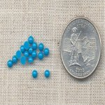 200 VINTAGE TURQUOISE 3mm ROUND CABOCHONS