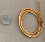 "6 GENUINE BROWN TAN 3mm. LEATHER 36"" CORD STRINGS"