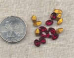 24 VINTAGE AUSTRIAN RUBY 7X5mm OVAL JEWELS