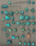12 VINTAGE GENUINE TURQUOISE LARGE NUGGET BEADS