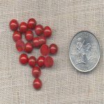 100 VINTAGE RED JASPER MATRIX 7mm. ROUND CABOCHONS