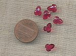 12 VINTAGE GLASS FUCHSIA 8mm ACORN GEM CAMEOS
