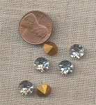 50 VINTAGE GLASS CRYSTAL 8mm RHINESTONE GEM JEWELS