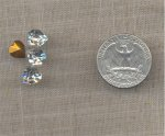 6 VINTAGE CRYSTAL 8X8mm GLASS HEART FACETED JEWELS