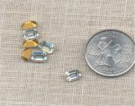 12 VINTAGE AUSTRIAN CRYSTAL 7X5mm OCTAGON JEWEL GEMS