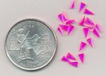 12 VINTAGE SYNTHETIC RUBY 4.5X2.5mm. TRIANGLE GEMS