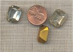 24 VINTAGE GLASS CRYSTAL 16X12mm OCTAGON JEWELS