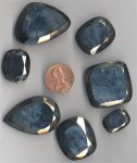 7 VINTAGE ASST GLASS GERMAN HEMATITE AMTIQUE GEMS