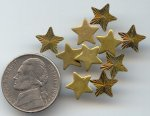 10 VINTAGE 9mm DIAMOND CUT STAR SUNBURST FINDINGS