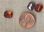 12 VINTAGE HYACINTH 10x8mm OCTAGON GEM JEWELS