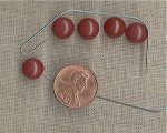 45 VINTAGE GENUINE CARNELIAN 9mm. HALF DRILL BEADS