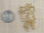 "1 VINTAGE GOLD LONG THIN CURB 22"" NECKLACE"